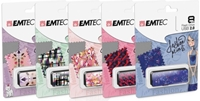 Εικόνα της ΔΙΣΚΟΙ EMTEC FLASH USB 2.0  8GB FASHION PRINTS